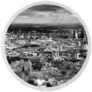 Aerial View Of London 6 Round Beach Towel