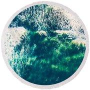 Aerial View Of The Ocean Round Beach Towel