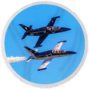 Aero L-39c Albatros Jet Trainers Round Beach Towel