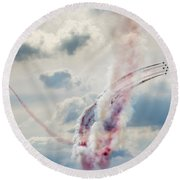 Aerobatic Group Formation  At Blue Sky Round Beach Towel
