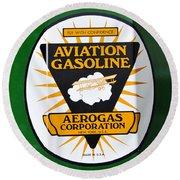 Aerogas Green Pump Round Beach Towel