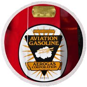 Aerogas Red Pump Round Beach Towel