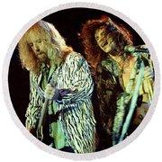 Aerosmith-94-brad-steven-1166 Round Beach Towel