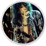 Aerosmith-94-steven-1174 Round Beach Towel
