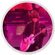 Aerosmith-joe Perry-00008 Round Beach Towel