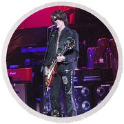 Aerosmith-joe Perry-00022 Round Beach Towel