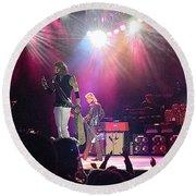 Aerosmith-steven Tyler-00082 Round Beach Towel