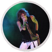 Aerosmith - Steven Tyler -dsc00138 Round Beach Towel