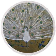 Affaire In The Tuilleries Round Beach Towel