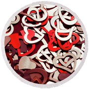 Affection Reflection Round Beach Towel