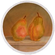 Affinity Pears Round Beach Towel