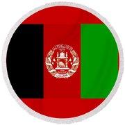 Afghanistan Flag Round Beach Towel
