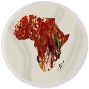 Africa 1b Round Beach Towel