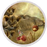 Africa - Innocence Round Beach Towel