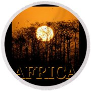 Africa Smart Phone Work A Round Beach Towel