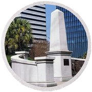 African American History Monument Round Beach Towel