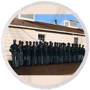 African American Troops In Us Civil War - 1965 Round Beach Towel