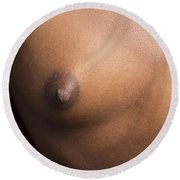 African Girl Nude Nipple 1197.02 Round Beach Towel