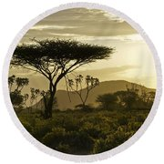 African Interlude Round Beach Towel