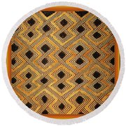 African Kuba Design Round Beach Towel
