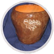 African Ladies Lead The Dance - View Two Round Beach Towel