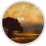 African Memories  Round Beach Towel