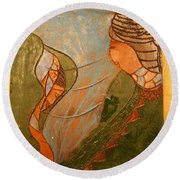 African Respect - Tile Round Beach Towel