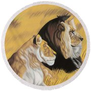 African Royalty Round Beach Towel