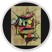 African Soul Round Beach Towel
