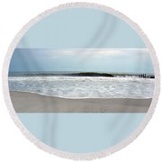 African Waves II Round Beach Towel