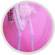 African Wire Flamingo Round Beach Towel