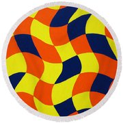 Afrika Round Beach Towel by Oliver Johnston