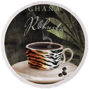 Afrikan Coffees II Round Beach Towel
