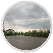 After A Rainy Day In Danube Delta Round Beach Towel