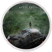 After Earth Movie 2013 Round Beach Towel