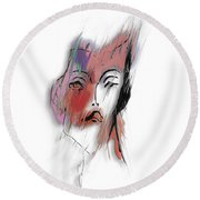 After Party Round Beach Towel