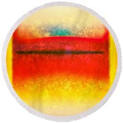 After Rothko 8 Round Beach Towel