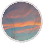 After Sunset Clouds In The West  Round Beach Towel