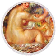 After The Bath 1912 Round Beach Towel