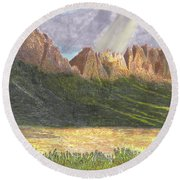 After The Monsoon Organ Mountains Round Beach Towel