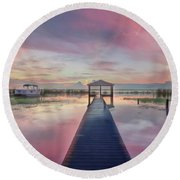 After The Rain Sunrise Painting Round Beach Towel