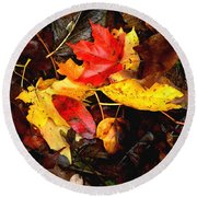 After The Rains Of Autumn Round Beach Towel
