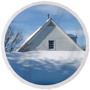 After The Snowfall Round Beach Towel