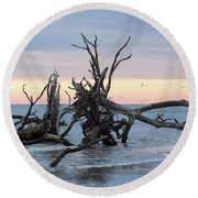 After The Storm At St. Helena Round Beach Towel