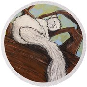 After The White Squirrel Festival Round Beach Towel