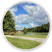 Afternoon In Tennessee Round Beach Towel