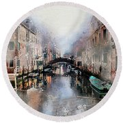 Afternoon In Venice IIi Round Beach Towel