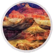 Afternoon Light At Mather Point, Grand Canyon Round Beach Towel