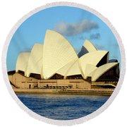 Afternoon Light On The Sydney Opera House Round Beach Towel