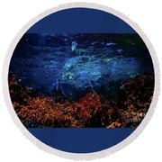 Afternoon On The Reef Round Beach Towel